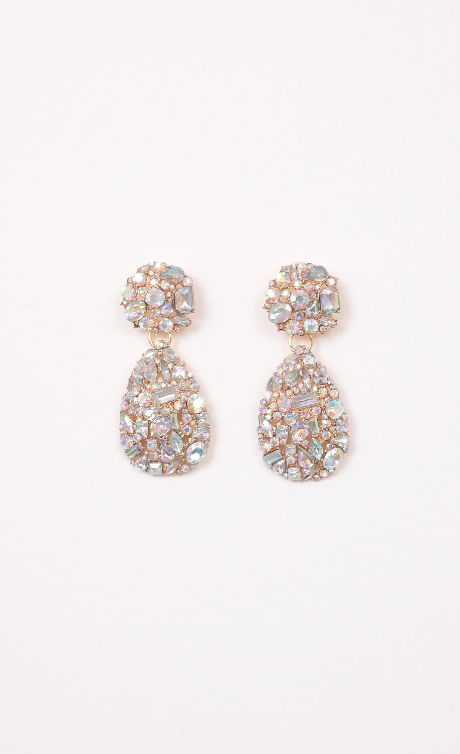 Meline Teardrop Crystal Earrings