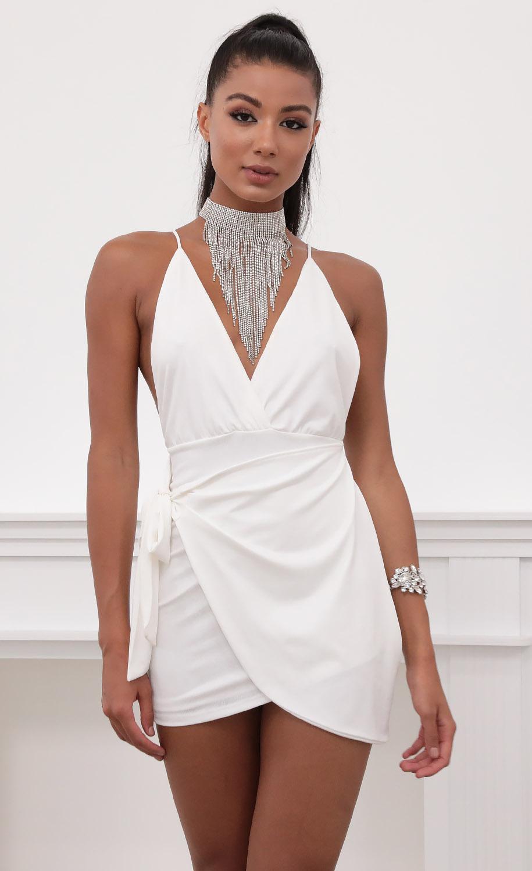Dani Venezia Wrap Dress in White