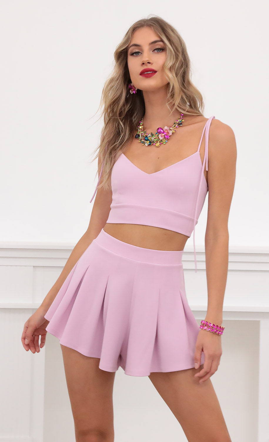 Heather Two Piece Set in Lilac
