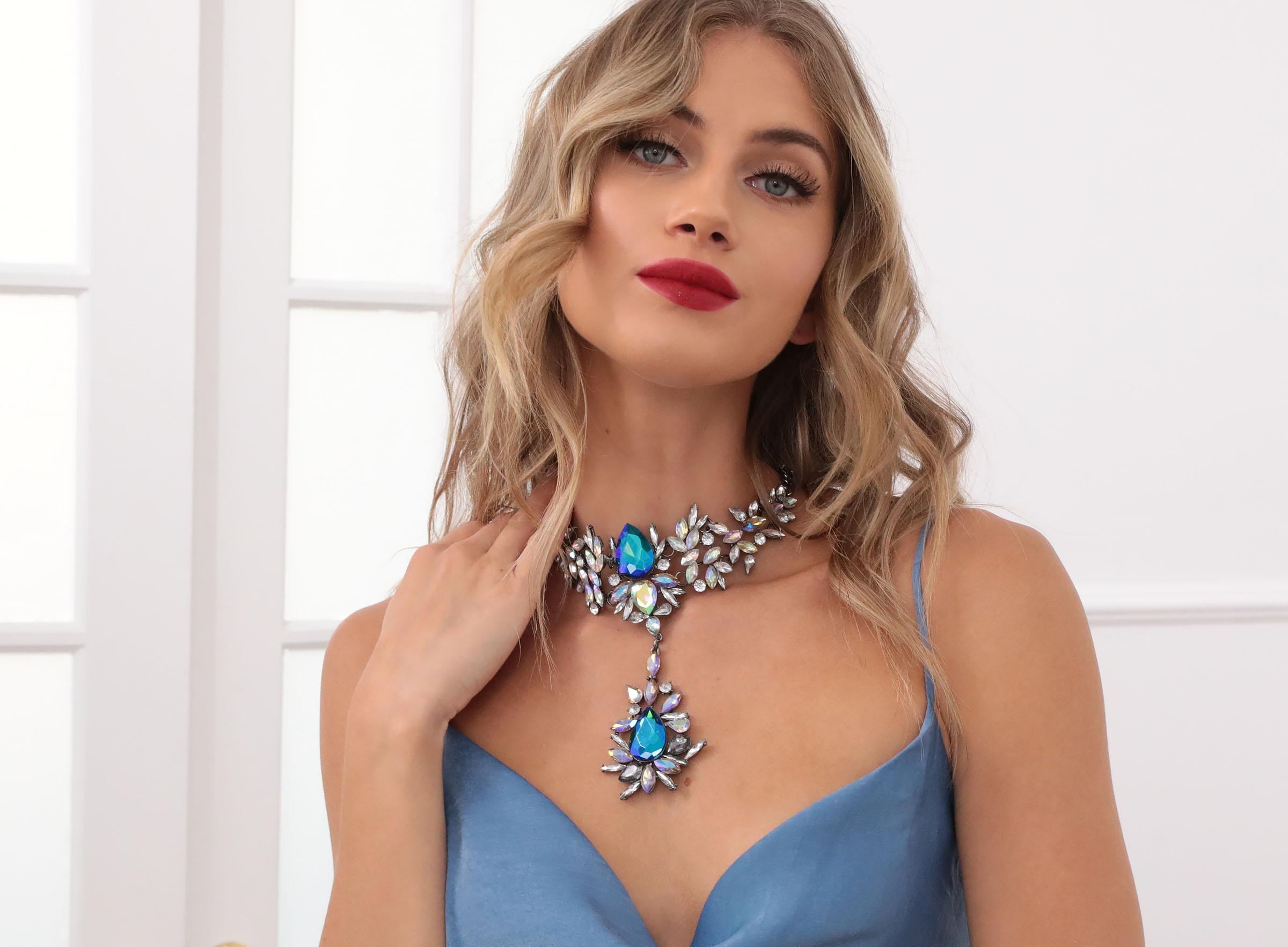 Athens Sapphire Blue Drop Choker