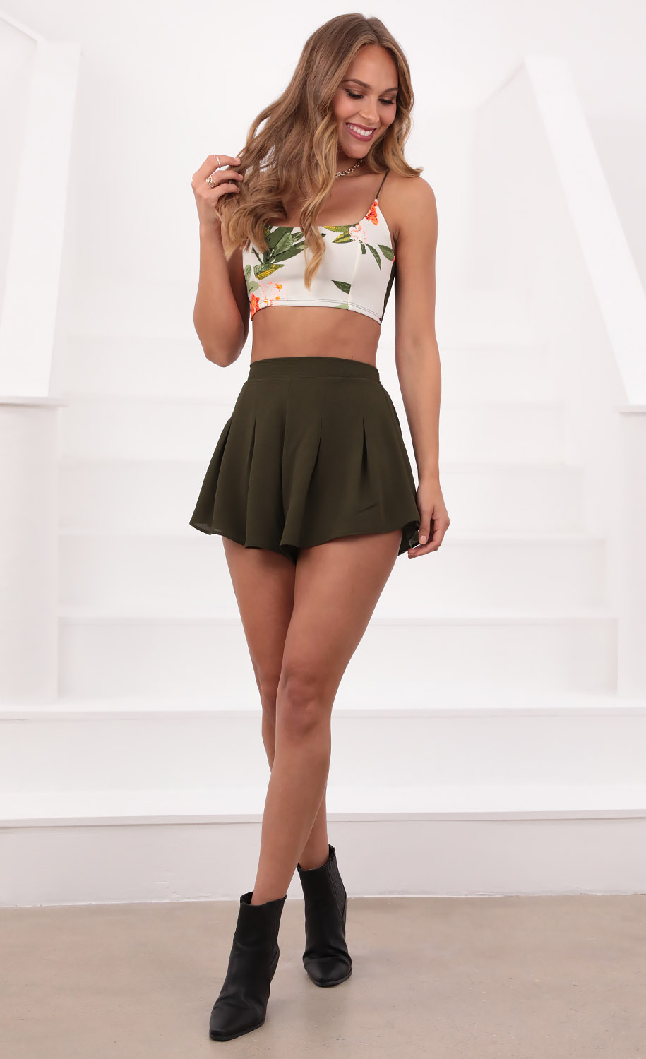 Cassandra Two Piece Set in Tropical Green