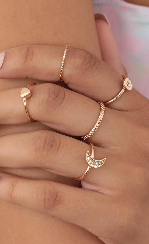 Celestial Gold Ring Set
