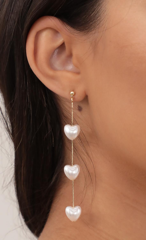 Pearl Heart-Shaped Drop Earrings