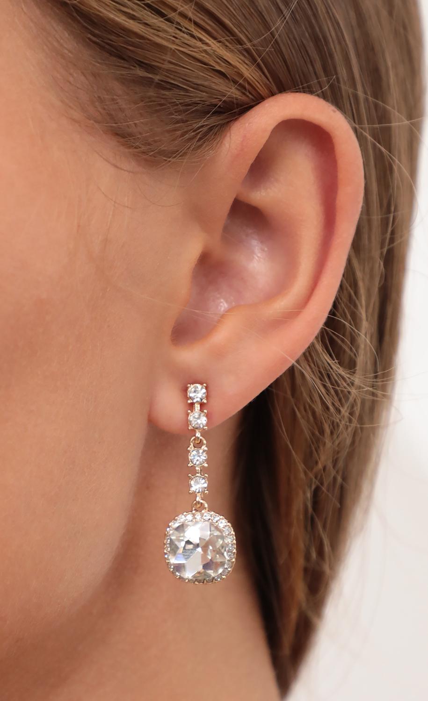 Cushion Pave Dangling Earrings