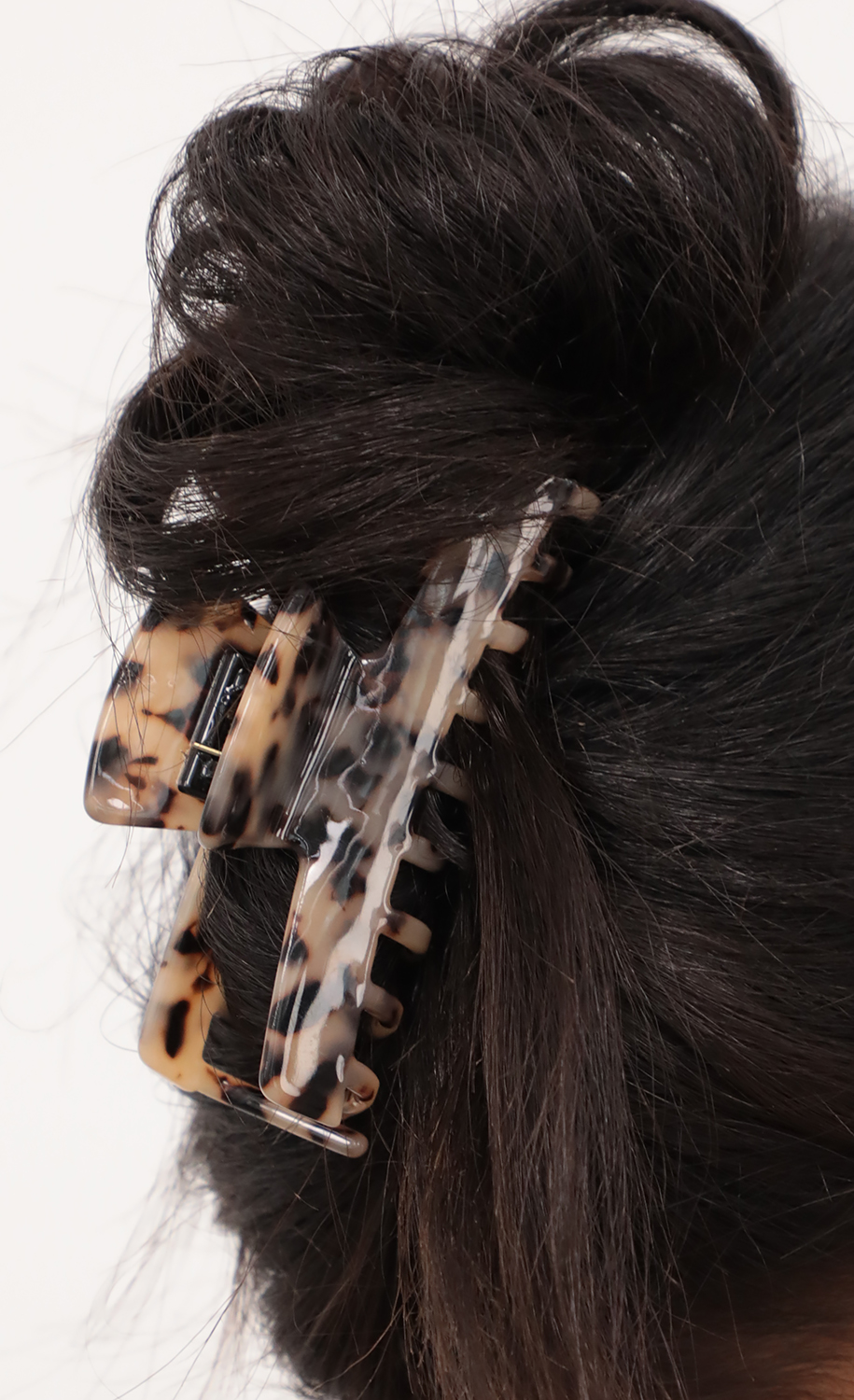 Celinda Hair Clip in Brown Marble