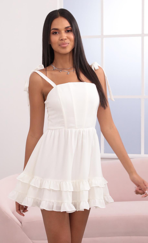 Netty Corset Dress in White
