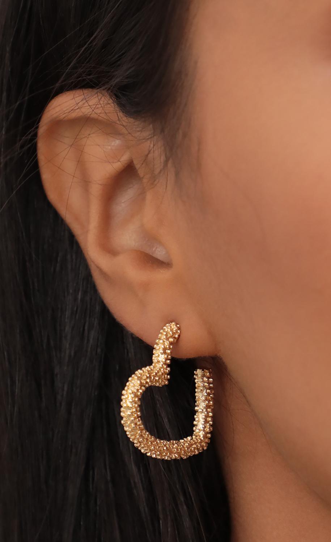 Petite Golden Heart Earrings