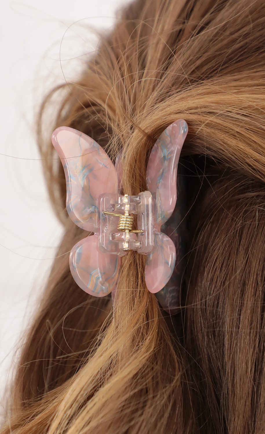 Pink Butterfly Hair Claw