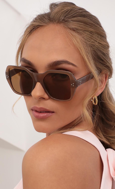 Malibu Square Sunglasses in Cocoa
