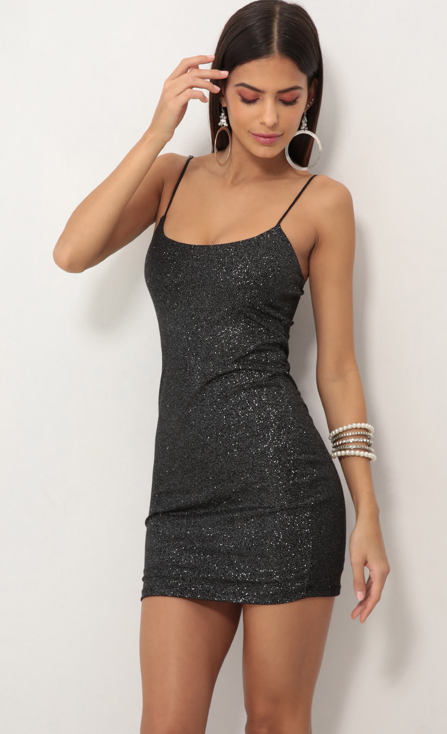 Black Starlight Bodycon Dress