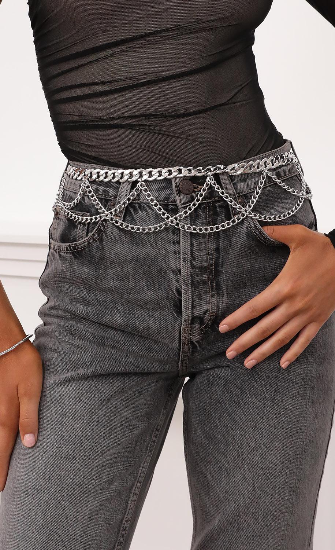 Silver Drop Chain Belt