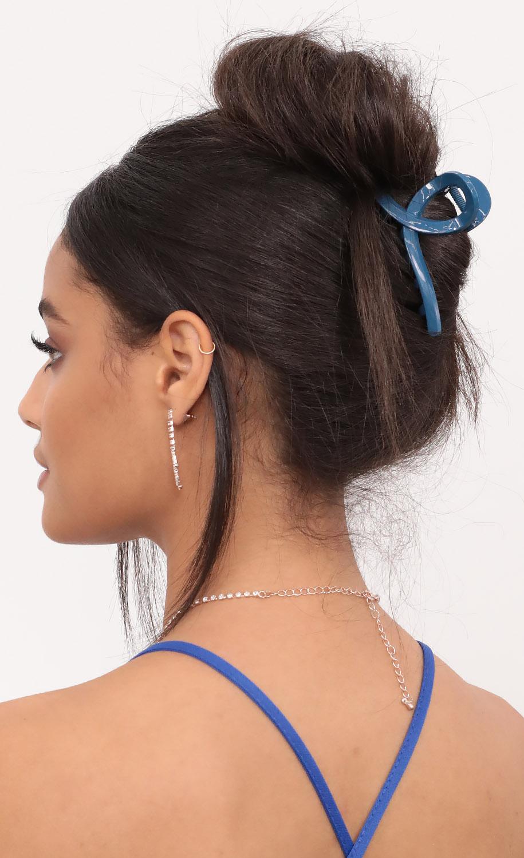 Blue Claw Hair Clip