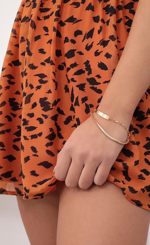 Double It Gold Bracelet