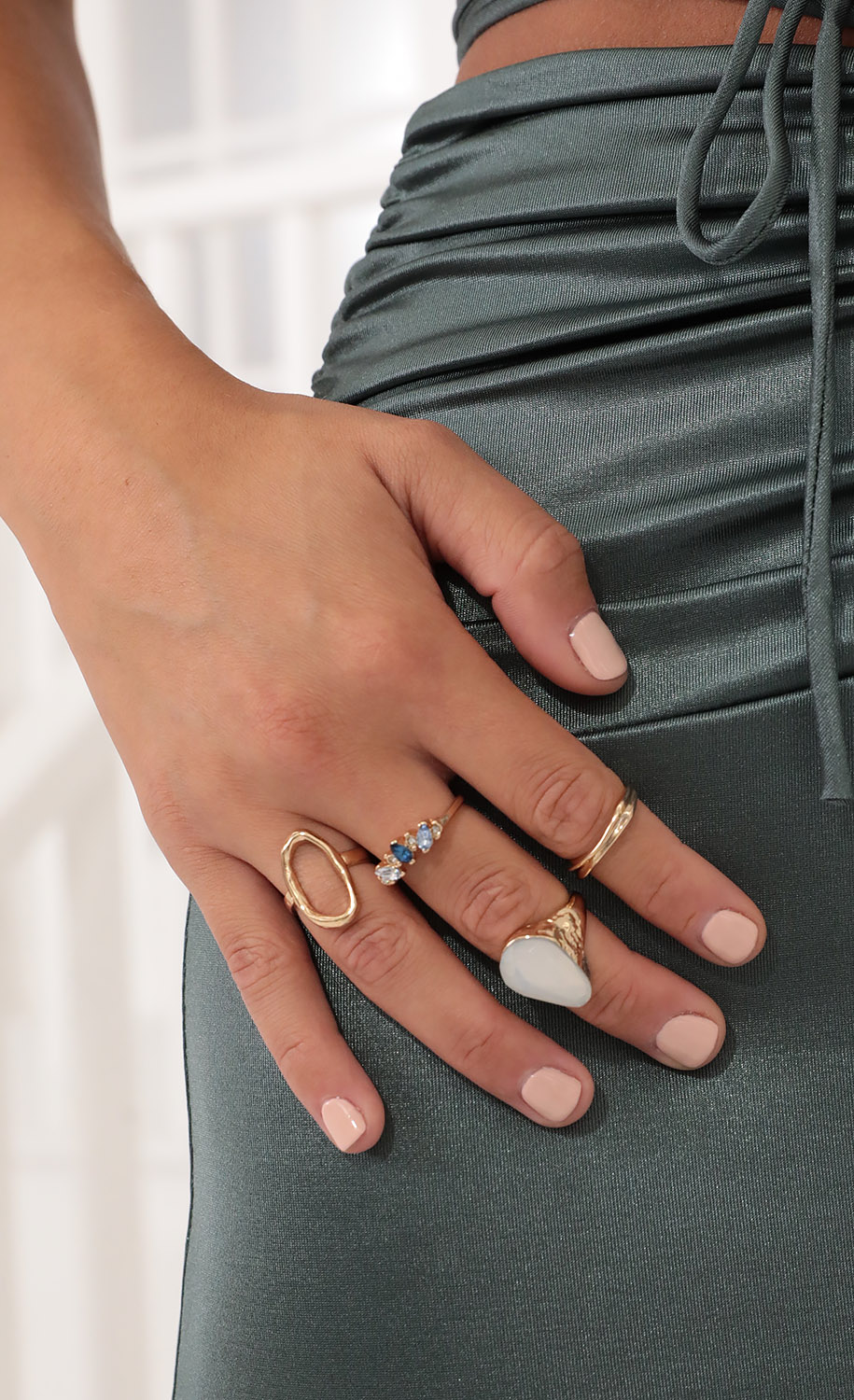 Picking Crystals Ring Set in Gold