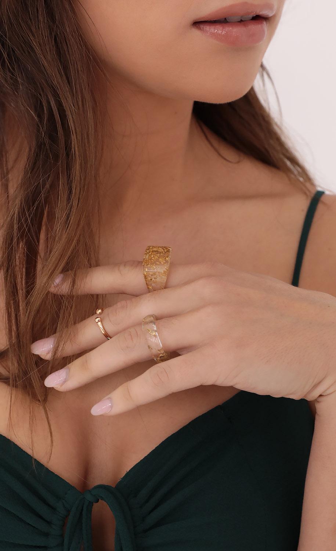 Specs of Gold Resin Ring Set