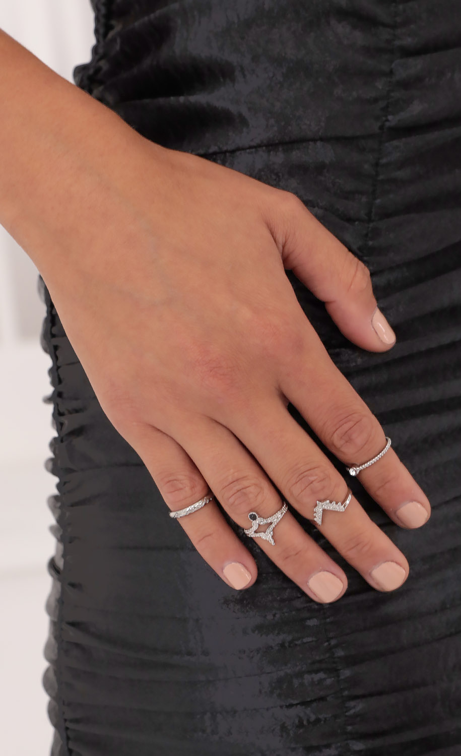 Touch of Glam Ring Set in Silver