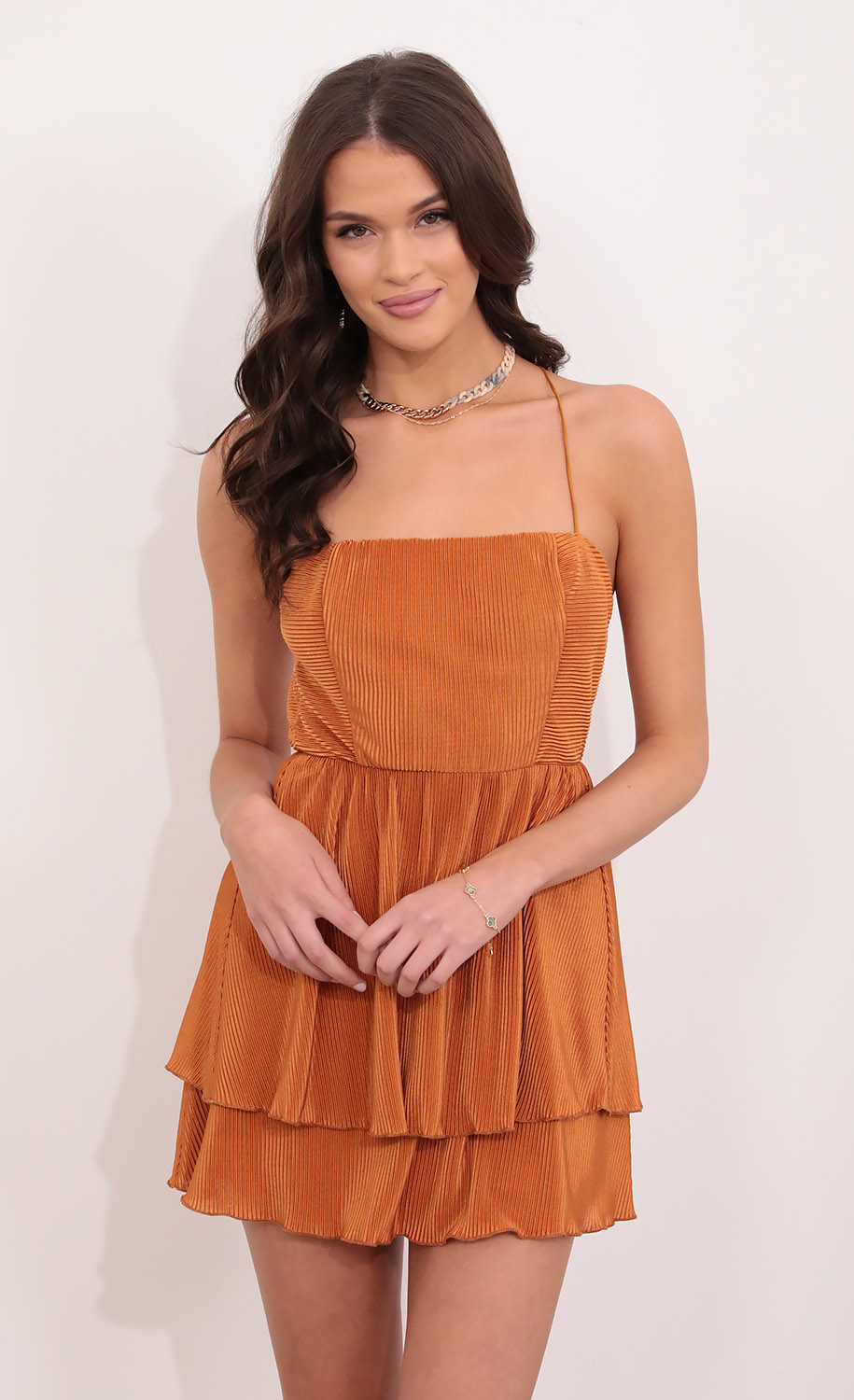 Blossom Fit and Flare Dress in Orange
