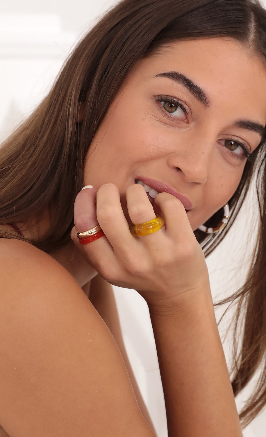 Pick A Color Ring Set in Gold
