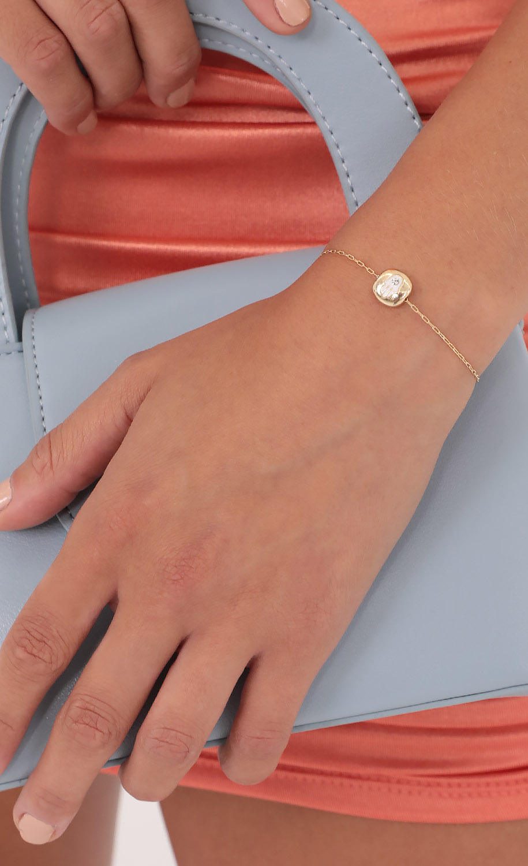 Hamsa Hand Bracelet in Gold