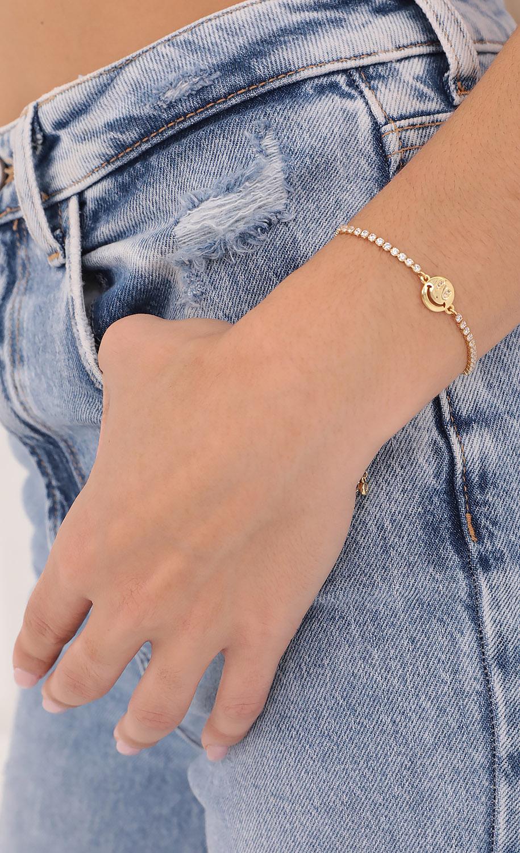 Big Smiles Crystal Bracelet in Gold