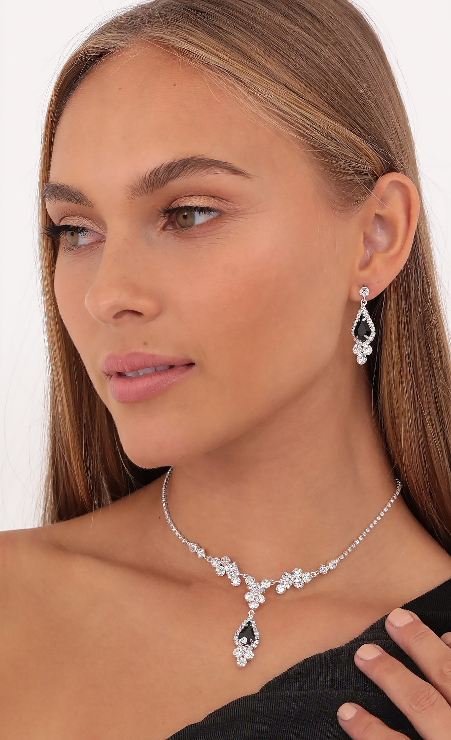 Take Me To The Ball Crystal Necklace Set