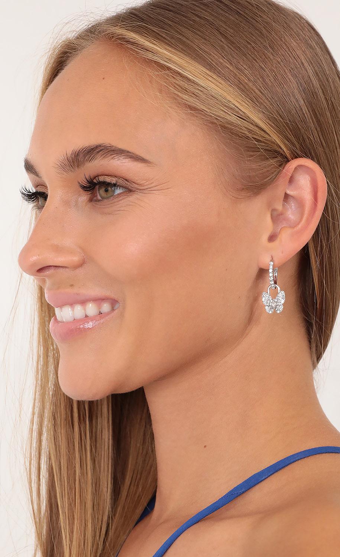 Baby Butterflies Earrings in Silver
