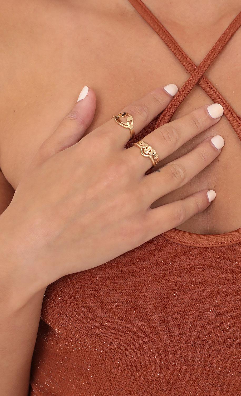 Happy Girl Ring Set in Gold