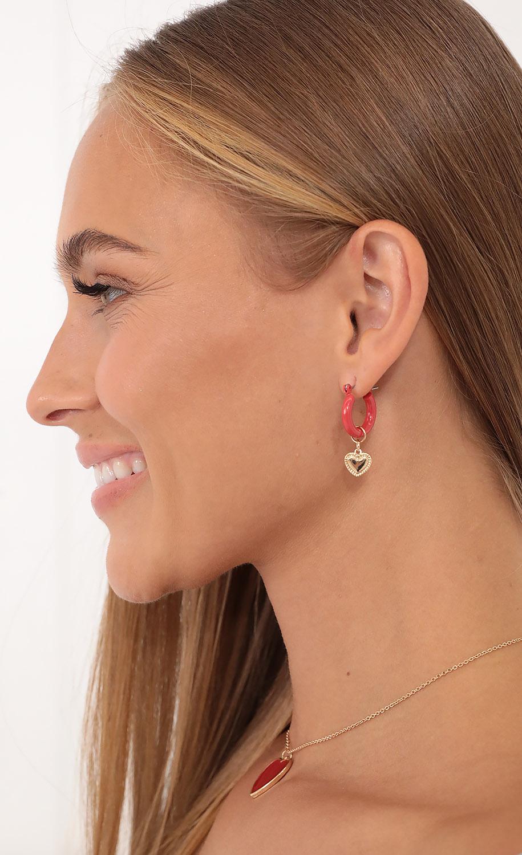 Love Struck Baby Earrings in Red