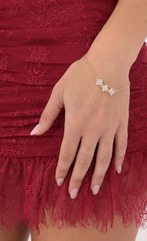 Luck of The Clover Bracelet in Gold