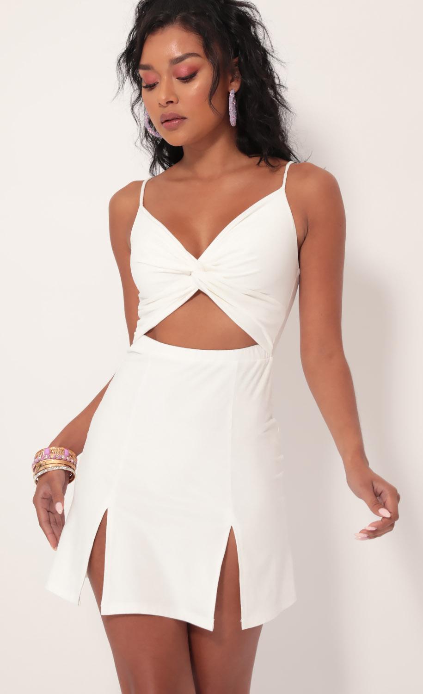 Moonlight Suede Dress in Ivory