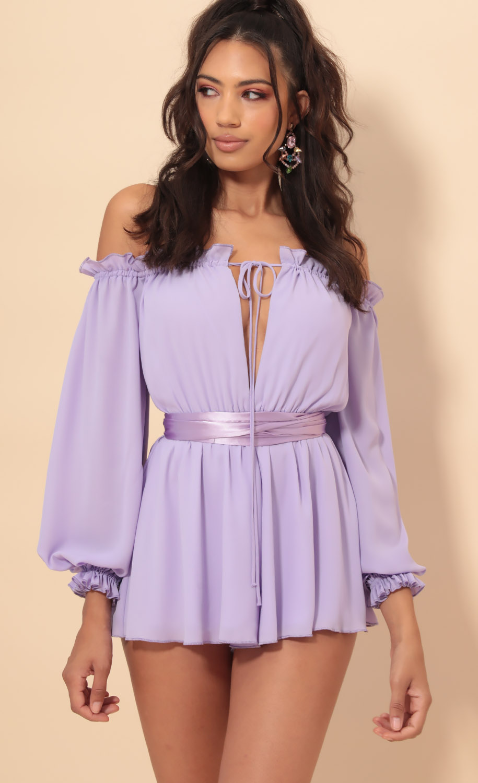 Vallarta Off The Shoulder Dress in Lavender