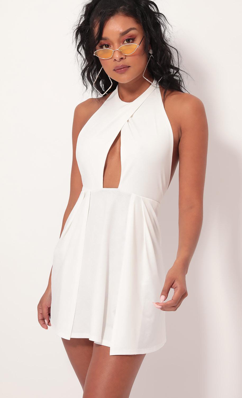Halsey Halter Dress in Ivory