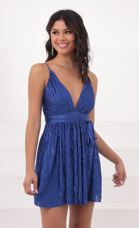 Marcia Dress in Classic Blue
