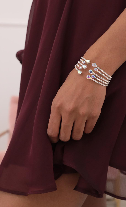 Iridescent Sparkling Bracelet in Silver