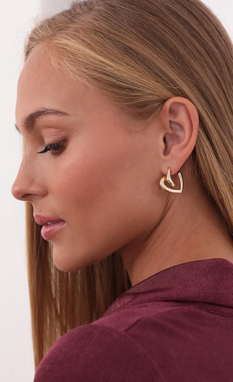Twisted Love Earrings in Gold