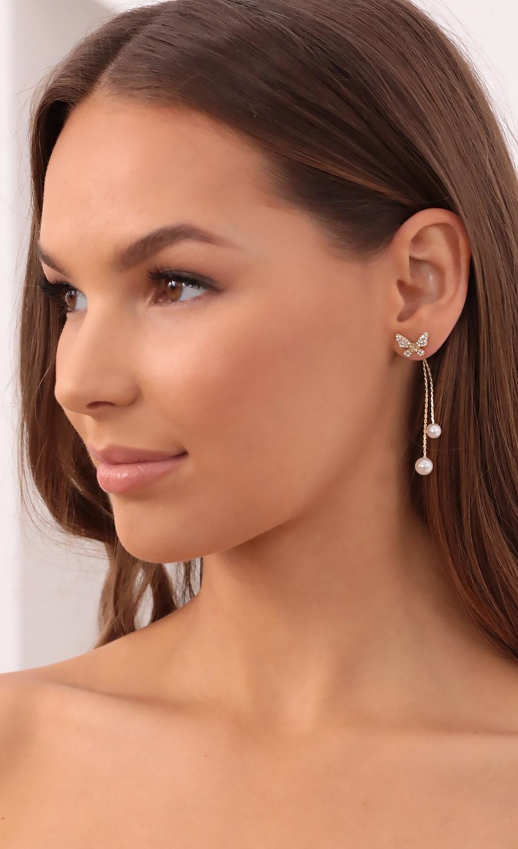 Fly Away Pearl Drop Earrings