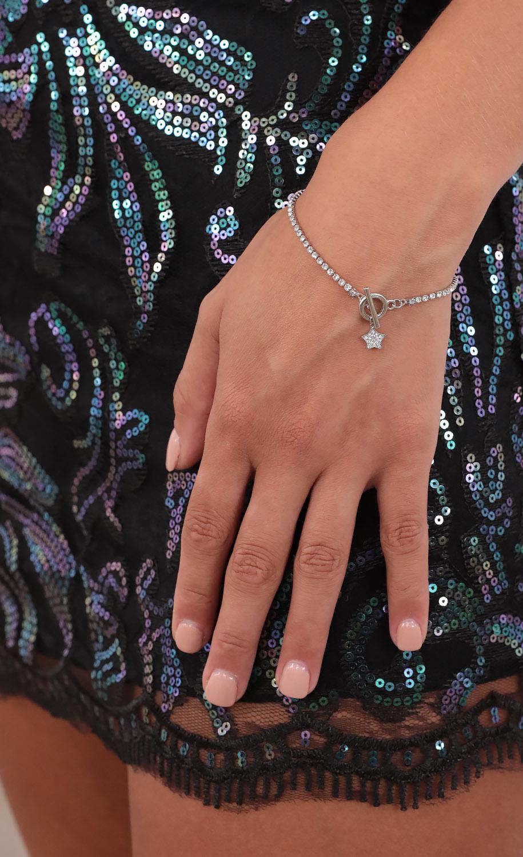 Lone Star Crystal Bracelet in Silver