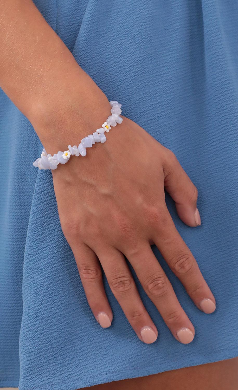 Hidden Daisies Bracelet in Blue