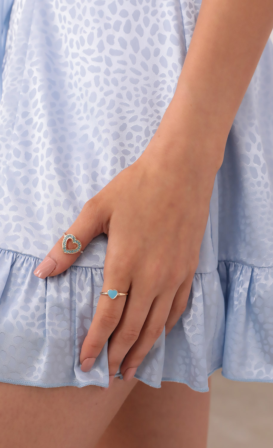Lovers and Friends Ring Set in Blue