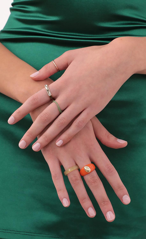 Orange Blossom Ring Set