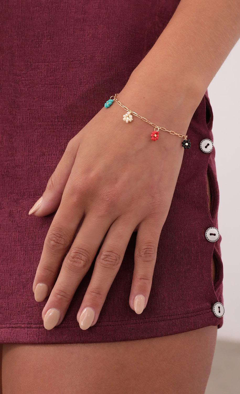 Floral Affair Bracelet in Gold