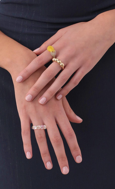 Tie The Knott Acrylic Ring Set